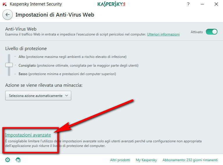 Impostazioni antivirus per l'errore calendar setup: Nothing to setup (no fields found).  Please check your code